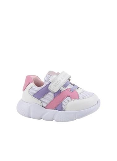 Kids A More Stranger Cırtlı Ve Lastikli Kız Çocuk Sneaker  Beyaz